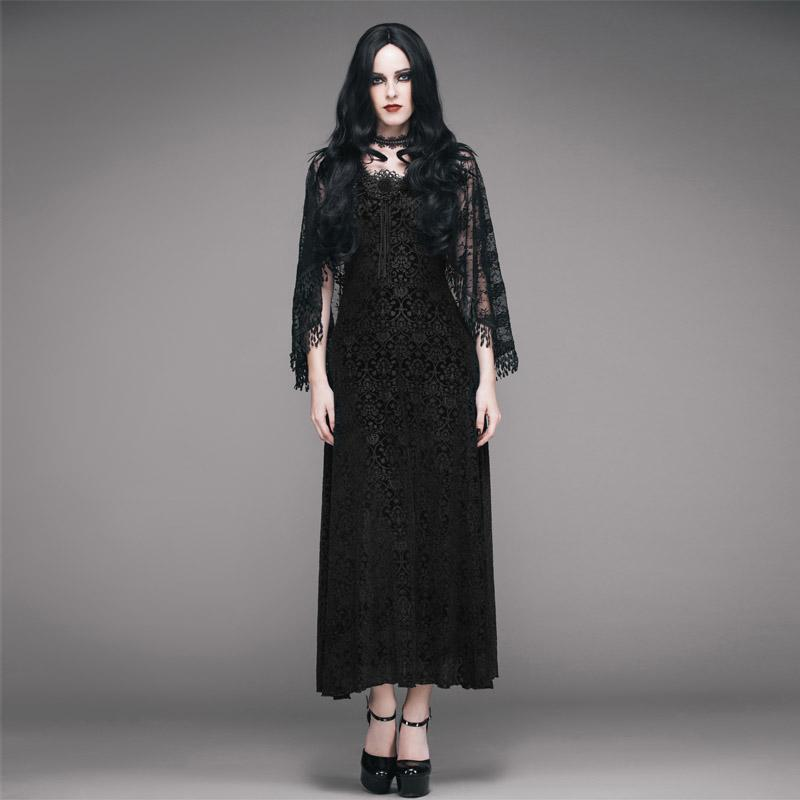 Women's Vintage Goth Cape Dress-Punk Design