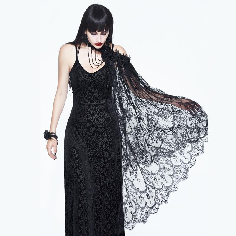 Women's Vintage Gothic Lace Cape-Punk Design