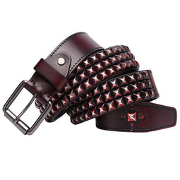 Kobine Men's Gothic Diamond Rivets Belts
