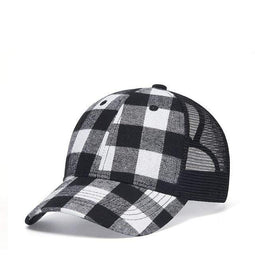 Kobine Men's Hip-hop Summer Plaid Baseball Cap