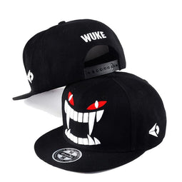 Kobine Casquettes de baseball Hip-pop Big Teeth Skull pour homme