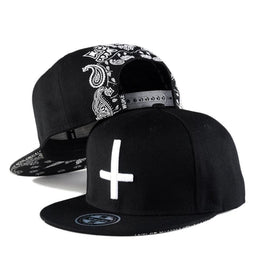 Kobine Herren Hip-Pop Cross Baseball Caps