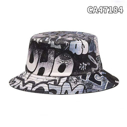 Kobine Herren Hip-Pop Graffiti Bucket Hats