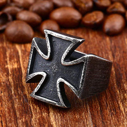 Kobine Men's Punk Cross Rings