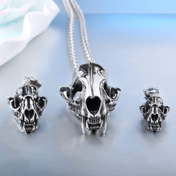 Kobine Men's Punk Ice Age Smilodon Necklaces