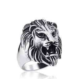 Kobine Men's Punk Lion Rings