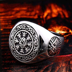 Kobine Men's Punk Pirate Symbol Rings
