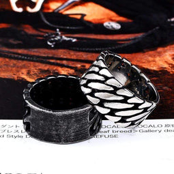Kobine Men's Punk Squama Rings