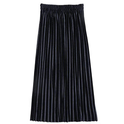 KOBINE Women' Ankle-Length Suede Pleated Skirts