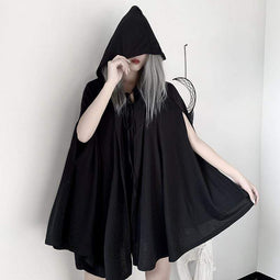 Kobine Women's Gothic Halloween Batwing Hoodied Casual Capes
