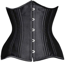 Kobine Women's Gothic Pure Color 24 Steel Boned Underbust Corsets