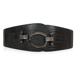 Kobine Women's Punk Snakeskin Buckle Dress Belts