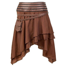 Kobine Women's Steampunk Layered Skirts With Strap