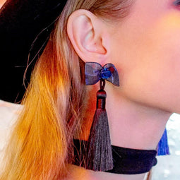 PR-A Women's Bow Knot Tassel Earrings (Single)