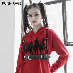 PR-A Women's Gothic Punk Faux Leater Body Harnesses