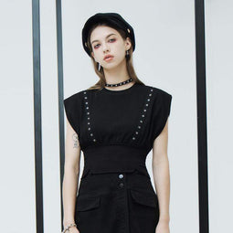 PR-A Women's Grunge Grommet Short Sleeved Crop Tops