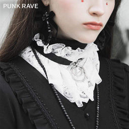 PR-A Women's Lolita Lace Detachable Collars With Chain