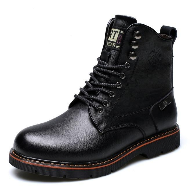 Men's Cotton Inside Lace Up Ankle Boot Martin Boots - PunkDesign