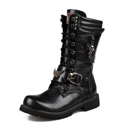 Men's Premium Black Riptide Galloper Boots Motorcycle Boots - PunkDesign