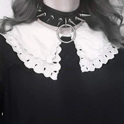 PUNK DESIGN Women's Punk Exaggerated Rivet Choker