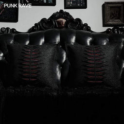 Punk Rave Gothic Punk Red Plaid Bear Doll Llavero Decoración del hogar