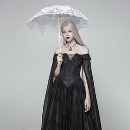Lolita Lace Embroideried Umbrellas White - PunkDesign