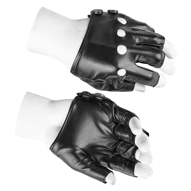 Men's faux leather Short Gloves - PunkDesign