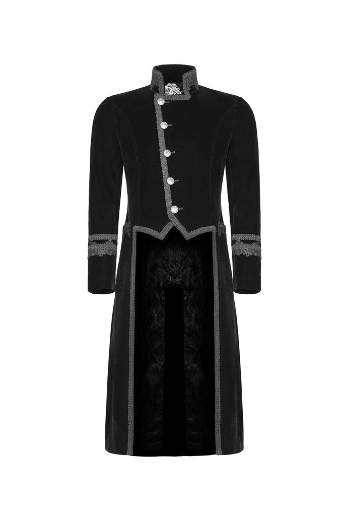 Men's Black Goth Tailcoat - PunkDesign