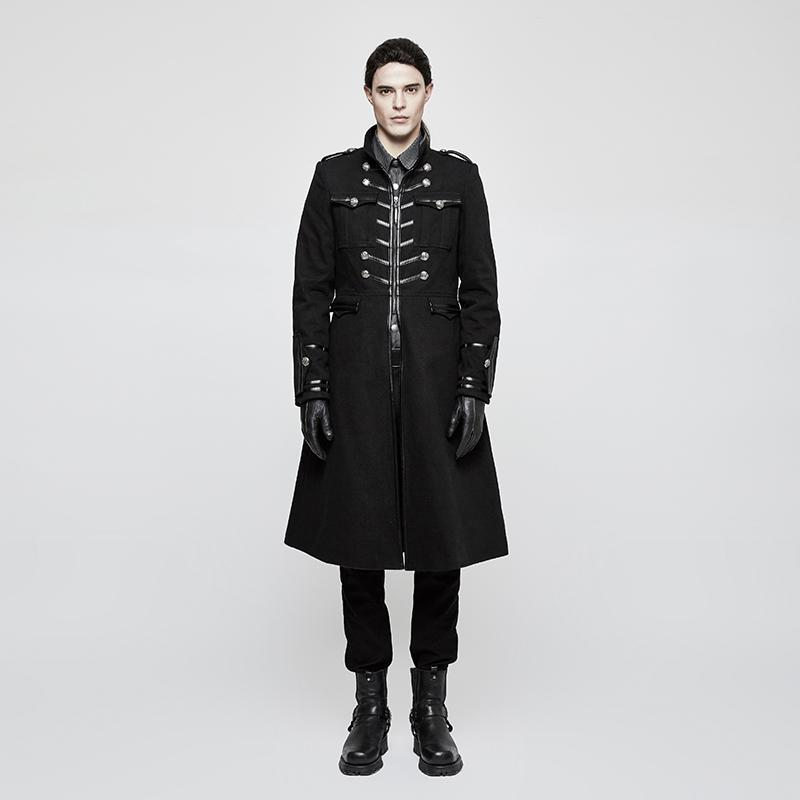 Men's Gothic SLim Fitted Witch Long Coat - PunkDesign