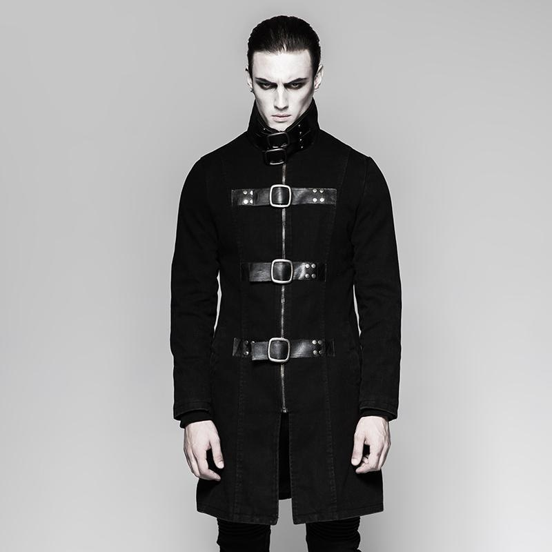 Men's High-neck Buckle-up Military Jackets - PunkDesign