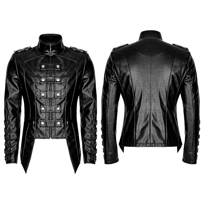 Men's Military faux leather jackets - PunkDesign