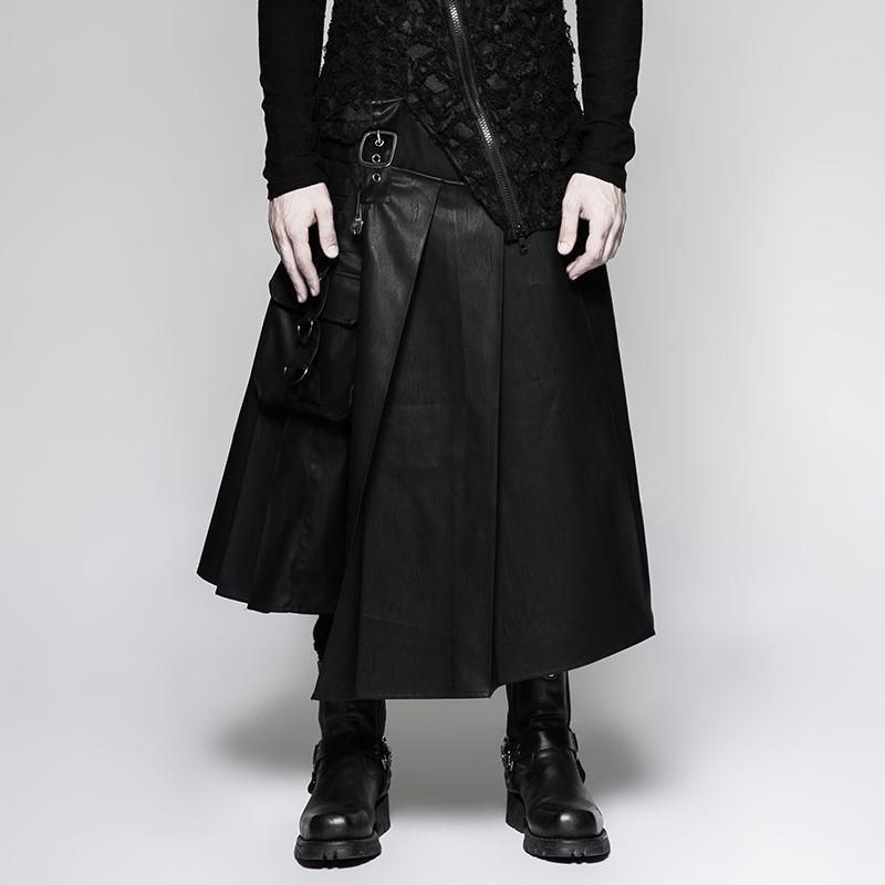 Men's Faux Leather Matador Kilt - PunkDesign