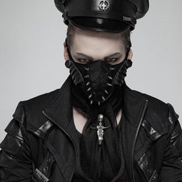 Męska maska ​​Goth Faux Leather Nity - PunkDesign