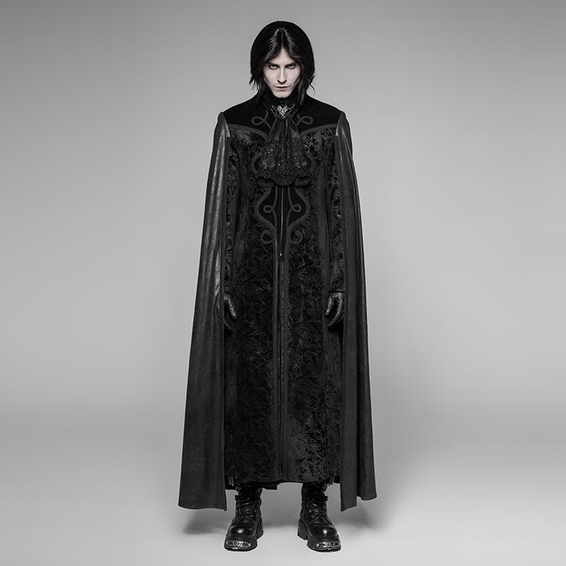 Herren Goth Long Cape Coat - PunkDesign