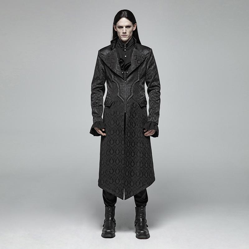 Men's Goth Overcoat - PunkDesign