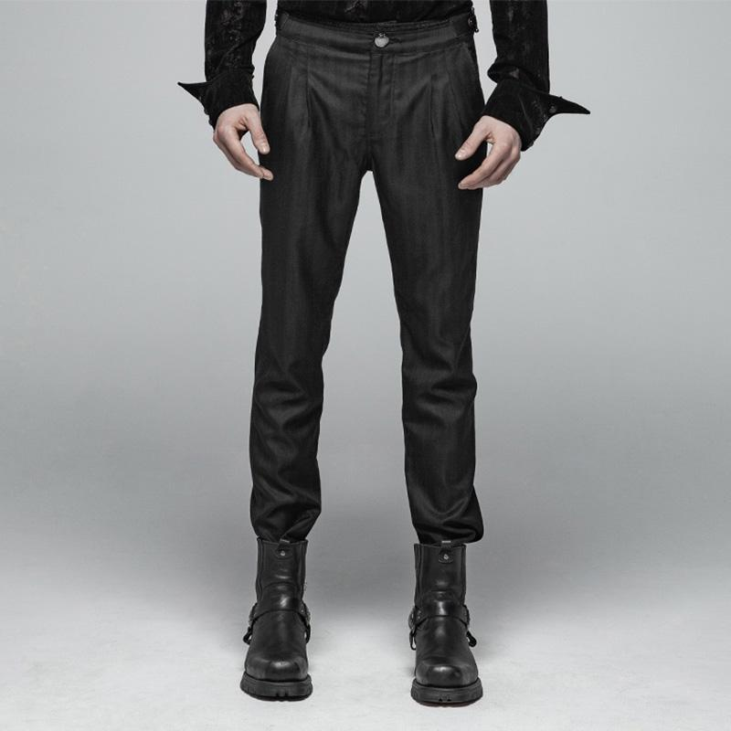 Goth Pinstripe Dress Pants für Herren - PunkDesign