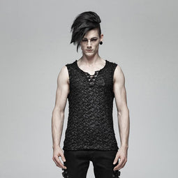 Men's Goth Ripped Tank Tops - PunkDesign