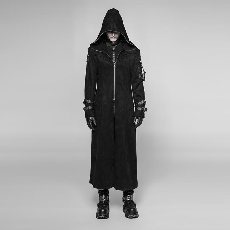 Men's Goth Steampunk Long Coat - PunkDesign
