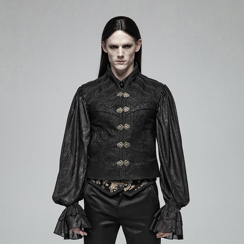 Men's Goth Vest With Dish Buckles - PunkDesign