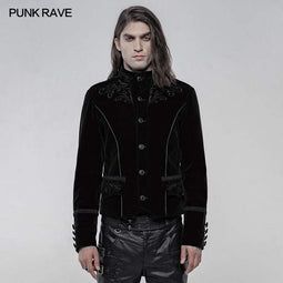 Punk Rave Men's Gothic Embroidered Single-breasted Jackets