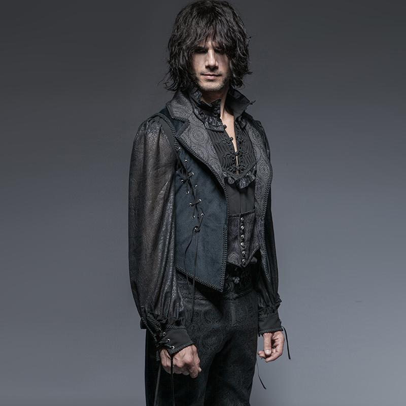 Men's Gothic Lapel Jacquard Tuxedo Coat - PunkDesign