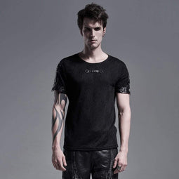 Punk Rave Men's Gothic Net Fitted T-shirts