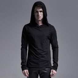 Sweats à capuche Gothic Pure Color Punk Rave pour hommes