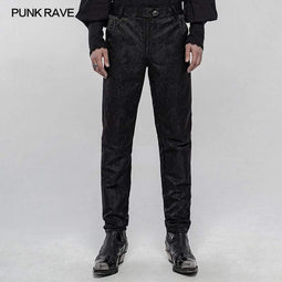 Punk Rave Men's Gothic Random Patterns Daily Simple Pants