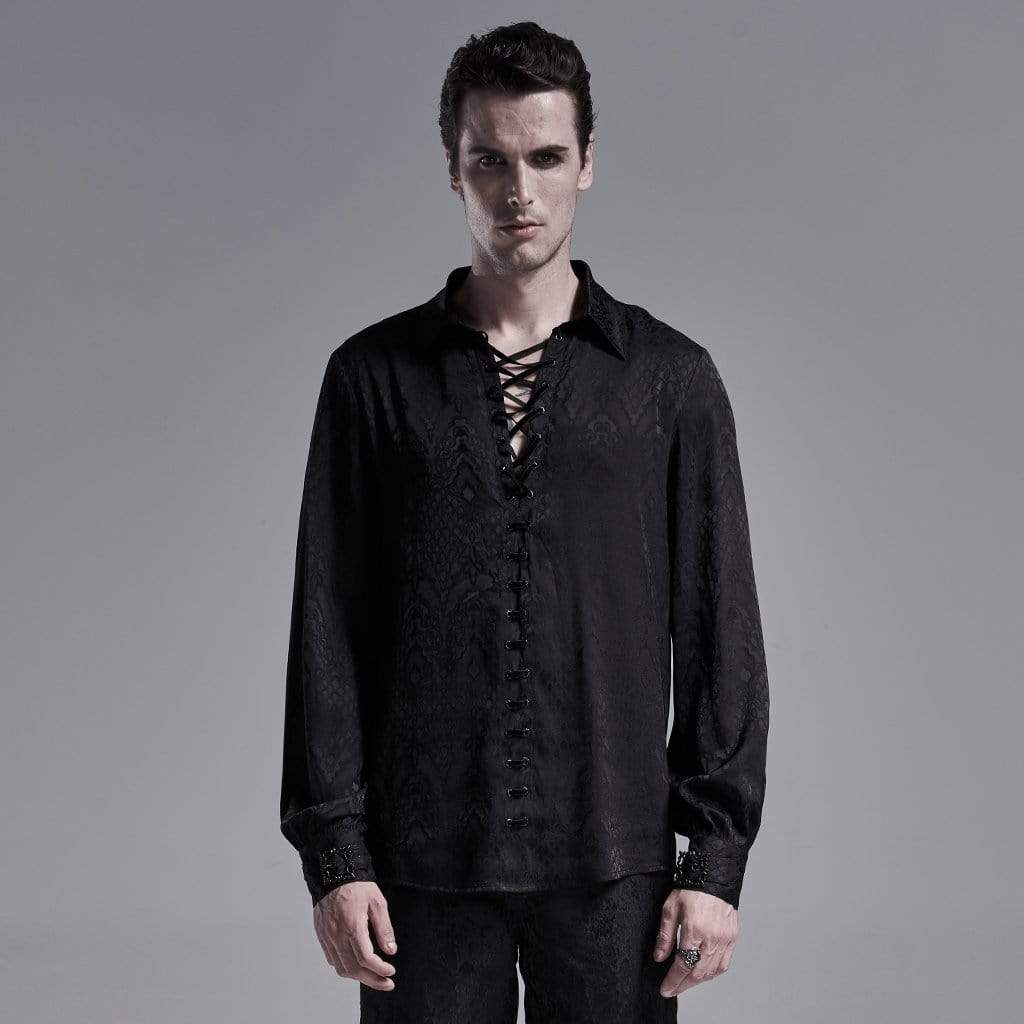 Punk Rave Men's Gothic Snakeskin Strappy Shirts