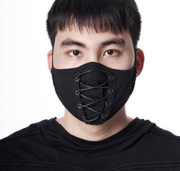 PUNK RAVE Men's Gothic Solid Color Ropes Masks