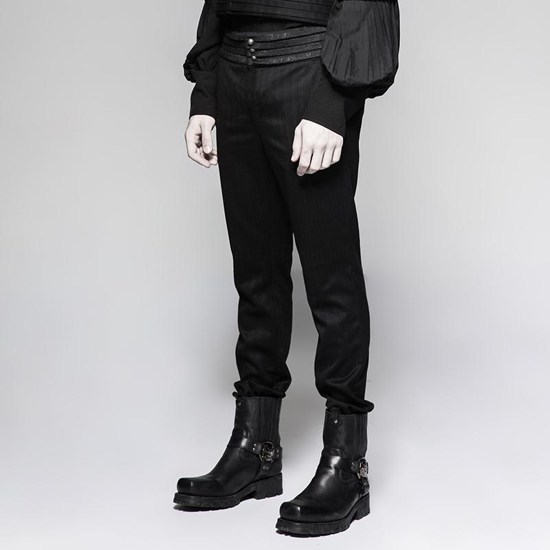 15e69b508f Men's Gothic Striped Pants - PunkDesign. Images / 1 / 2 / 3 ...