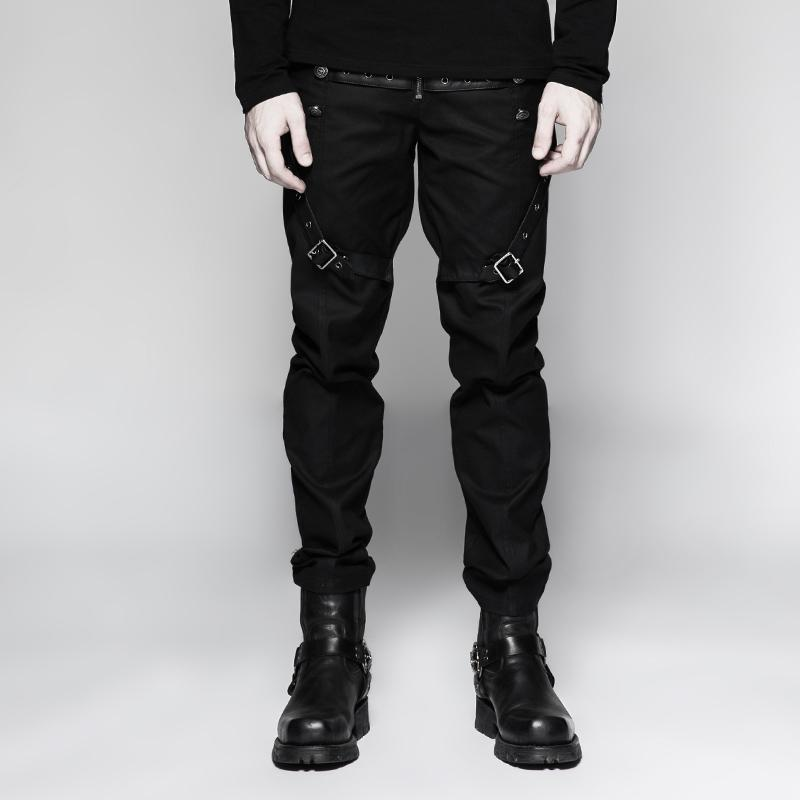 Men's Military Casual Straight-leg Pants - PunkDesign