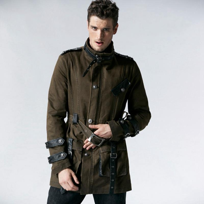 Men's Military Style Winter Coat - PunkDesign