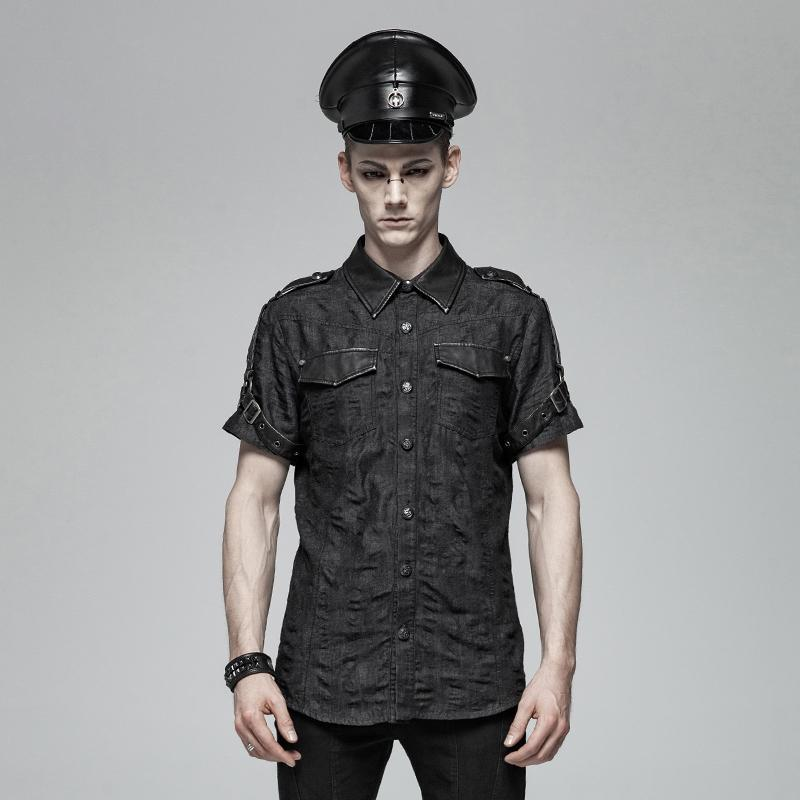 Men's Punk Denim Shirts - PunkDesign